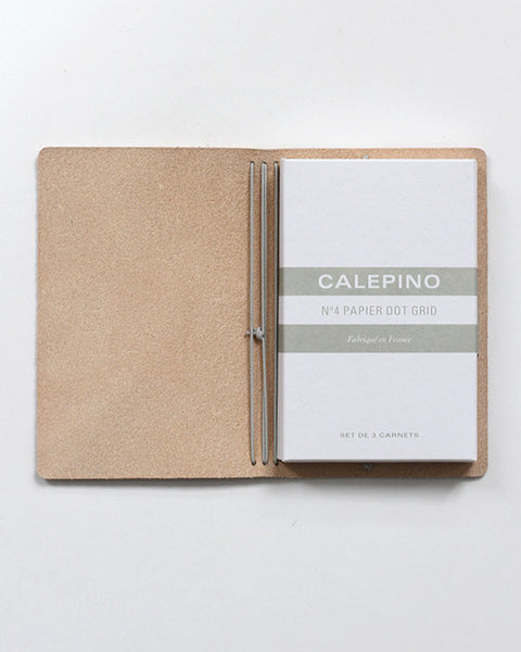 Calepino Leather Portfolio With Notebook Set