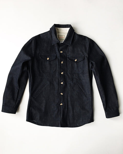 Dehen Ribbed Field Coat Navy / Orn Hansen