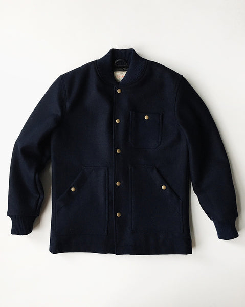 Dehen 1920 / Mens Outerwear / Ribbed Field Coat in Navy