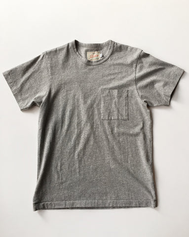 Dehen 1920 / Menswear / Single Pocket Heavy Duty Tee Gray