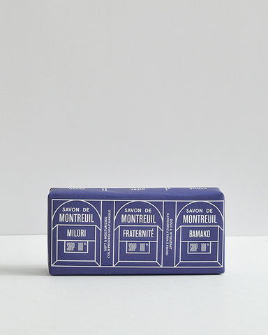 Le Baigneur Set of Three French Soaps