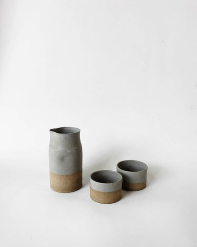 Beanpole Pottery Sake Set Matte Grey
