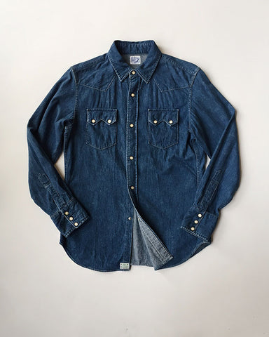 Orslow Washed Western Denim Shirt