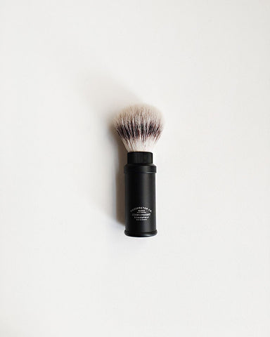 Prospector Co. Travel Shaving Brush SilvertipFibre