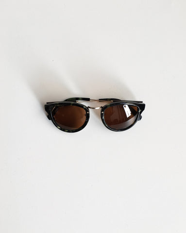 Shwood Ainsworth Sunglasses Dark Forest and Brown / Orn Hansen