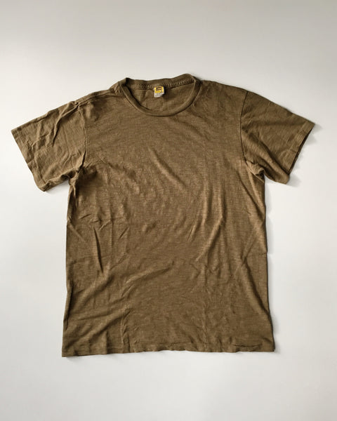 Velva Sheen Soft Cotton Jersey T-Shirt in Army