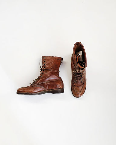Vintage Men's Leather Work Boots / Orn Hansen