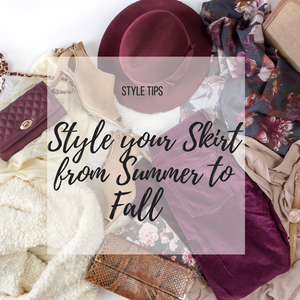 Style Your Favorite Summer Skirt For Fall