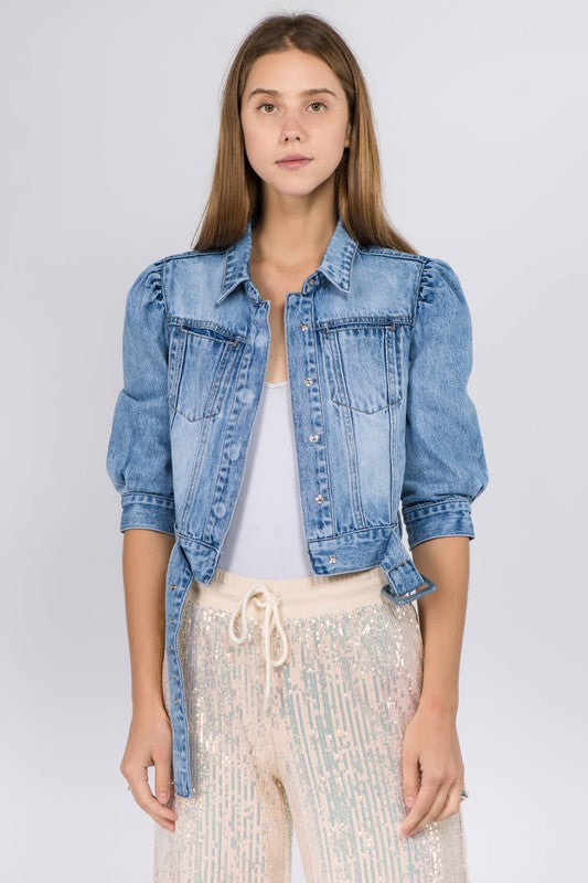 Casual Friday Jean Cropped Jacket