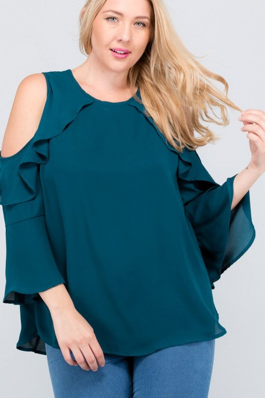 Pay Day top in teal - Downtown Chic Online