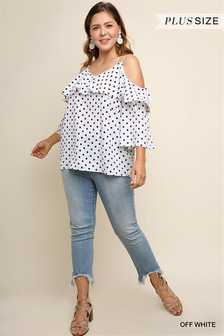 Spot Me top in Polk Dot - Downtown Chic Online