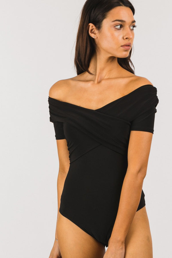 Carbon Copy Body Suit in black - Downtown Chic Online