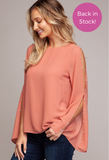 Easy Breezy top in Terra Cota - Downtown Chic Online