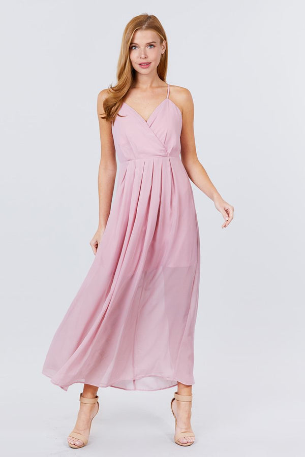 Chic in Pink Maxi Cami Dress