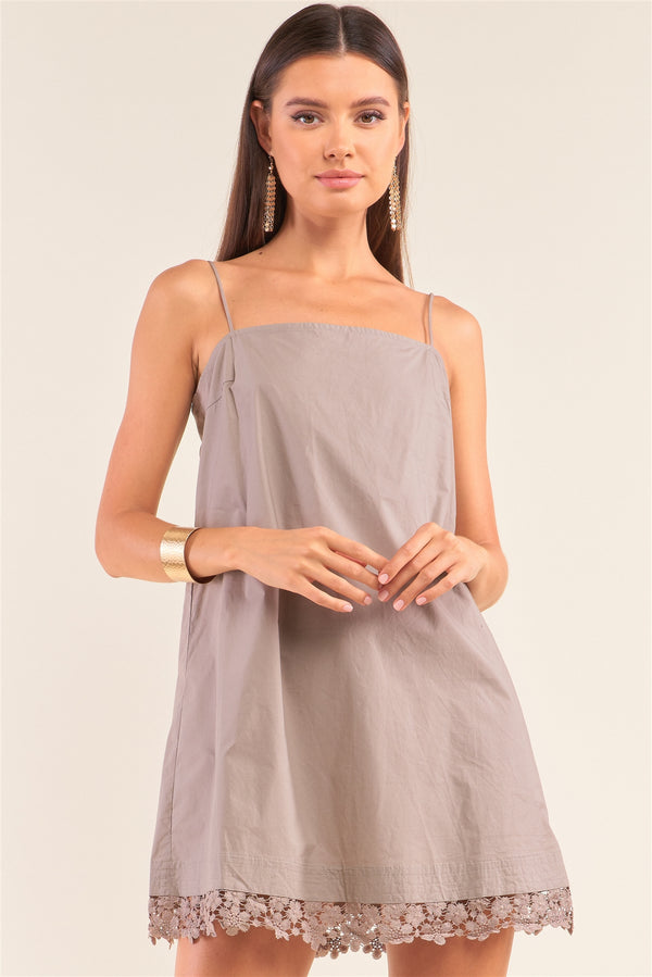 Mod Swing Mini Dress in Mocha