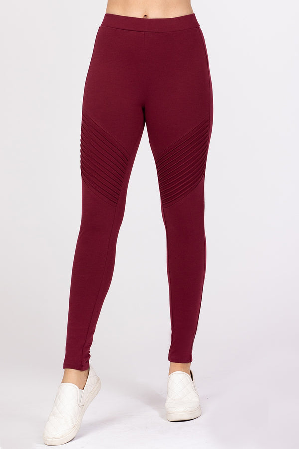 Work Overtime Leggings in Burgundy