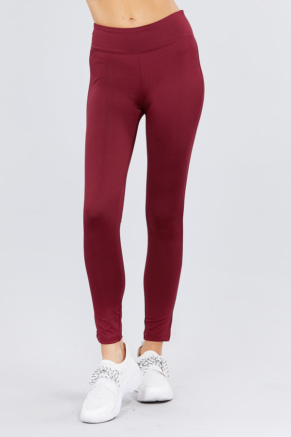 Work & Chill Leggings in Burgundy