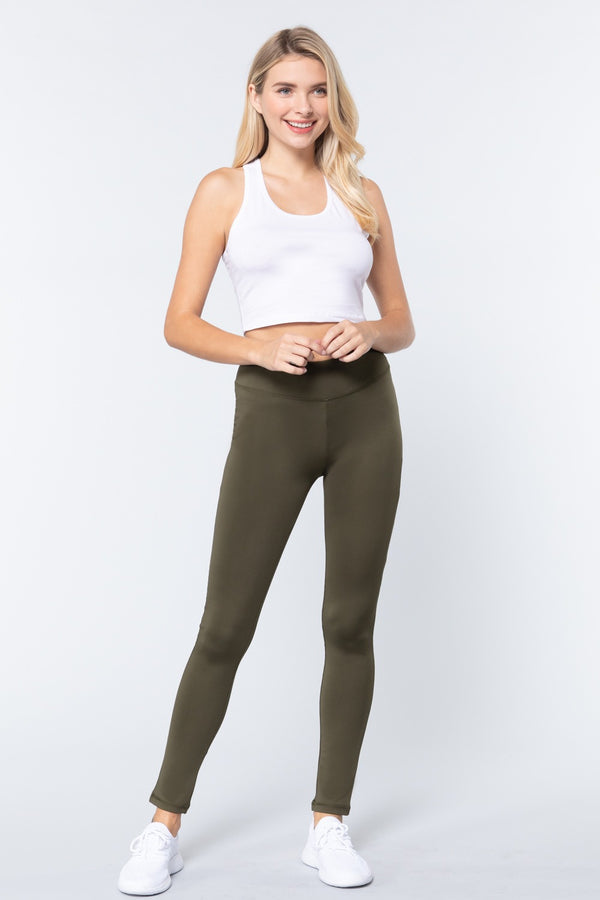 Work & Chill Leggings in Olive