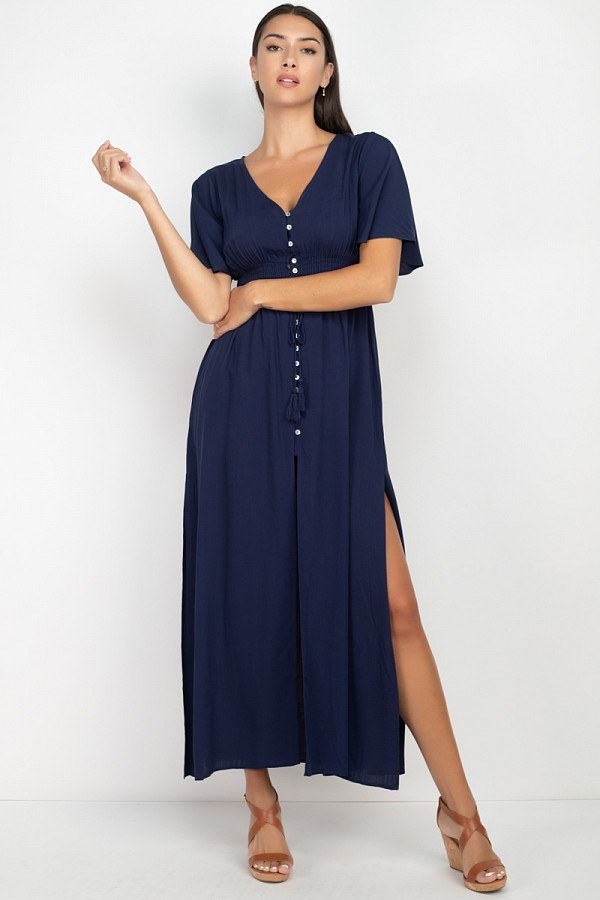 Weekend Getaway Maxi Dress in Navy