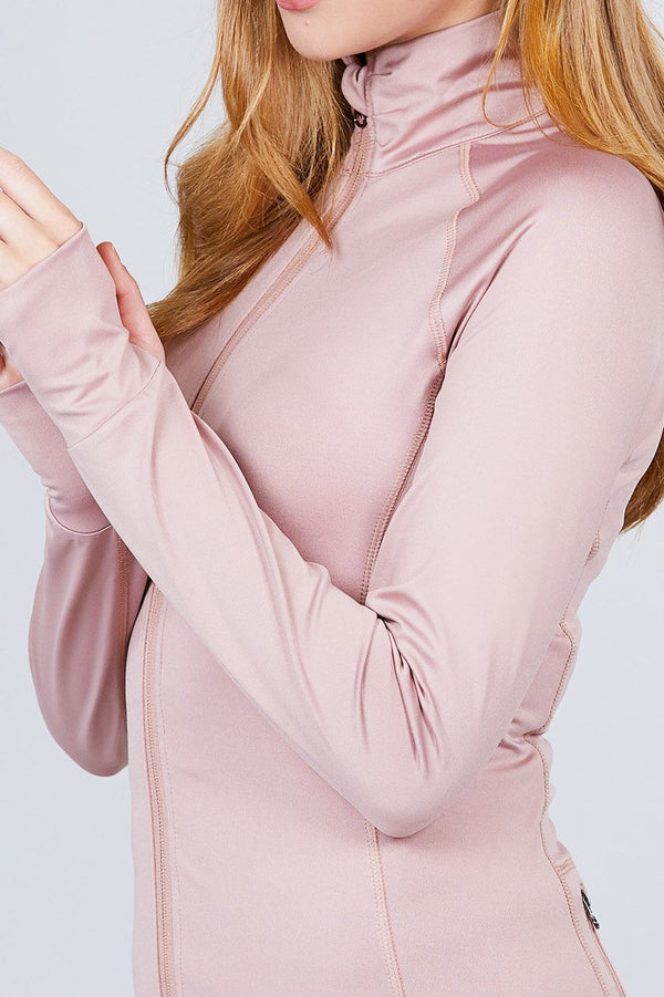 Work It out Track Jacket in Pink