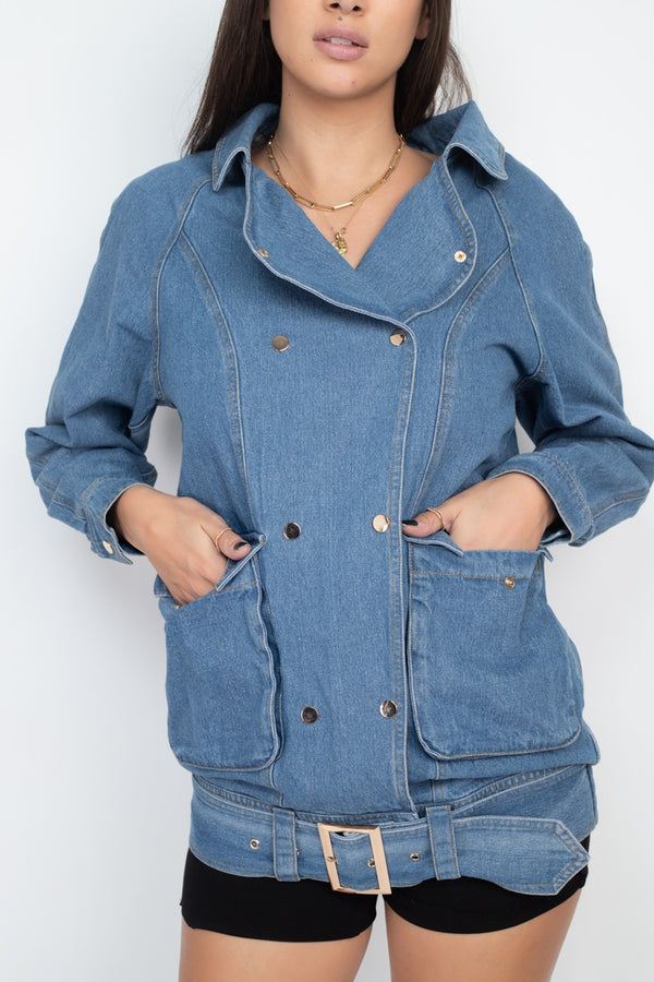 Let's Kick it Denim Jacket