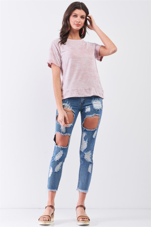 Lounge & be Chic T-shirt in Mauve
