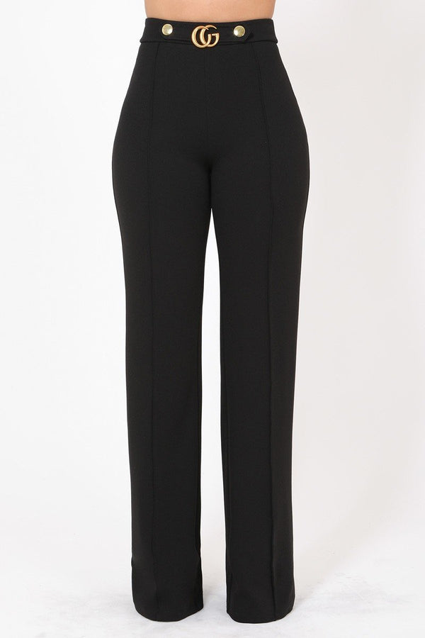 Chic & Tall Flared Pants in Black