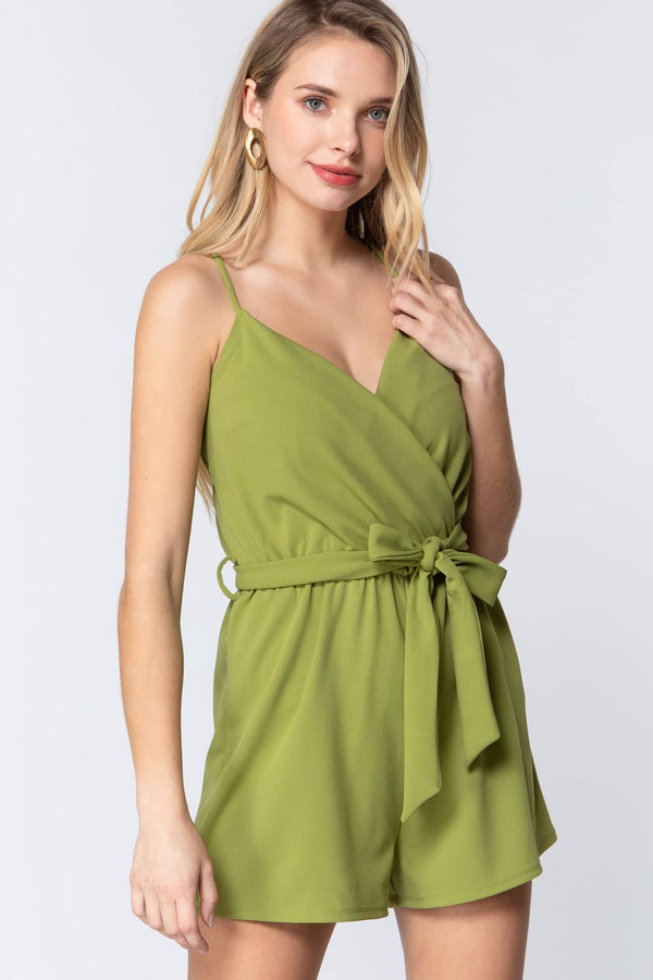 Lunch Date Romper in Green