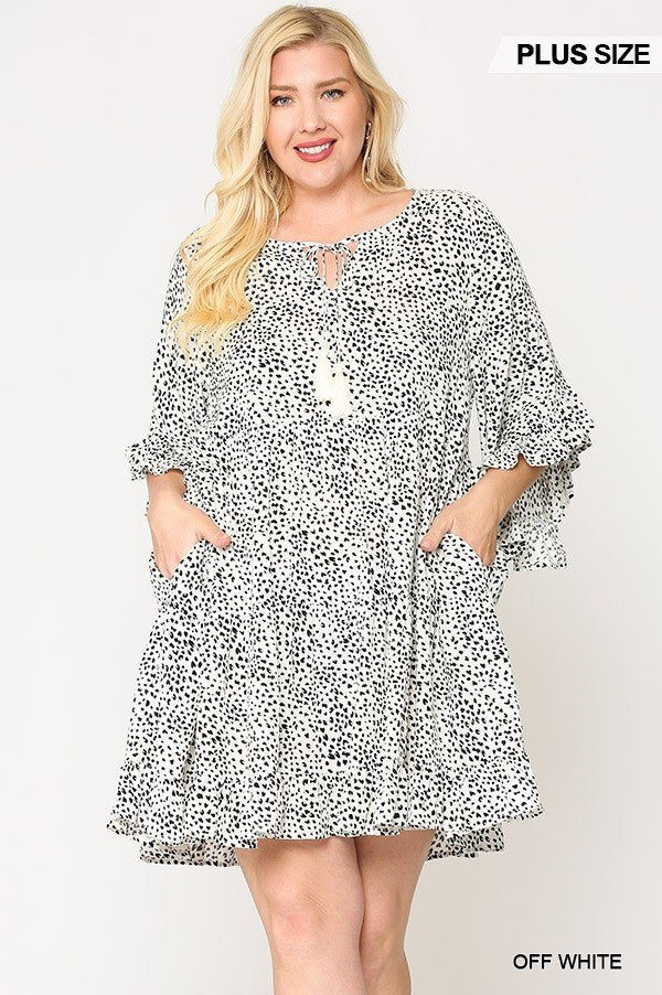 On the Dot Ruffle Dress