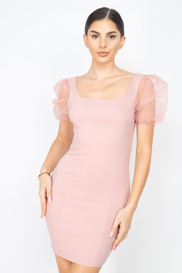 Caught You Looking Dress in Dusty Pink