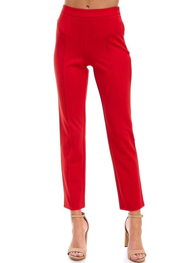 Situation Critical Pants in Red - Downtown Chic Online