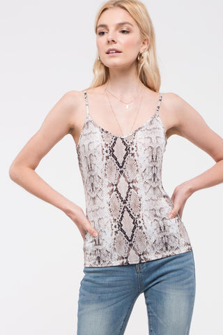 Fierce Competition Tank in Snakeskin