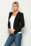 Long-Term Asset Blazer in Black - Downtown Chic Online