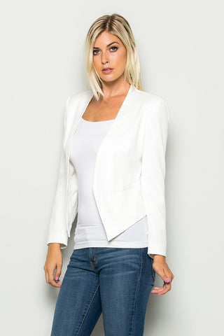 Acquisition blazer in white - Downtown Chic Online