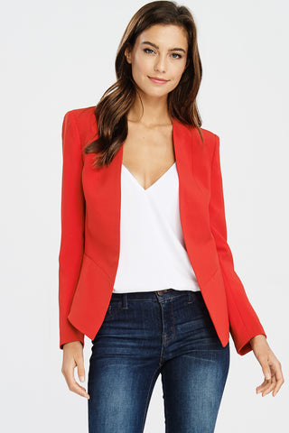 Long-Term Asset blazer in red - Downtown Chic Online
