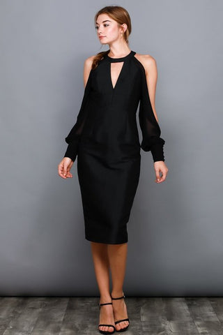 Don't Wait Up dress in black - Downtown Chic Online