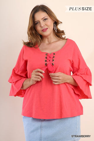 Living Coral Top - Downtown Chic Online