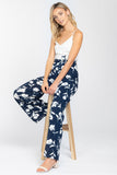 Business and Pleasure Floral Jumpsuit in Navy - Downtown Chic Online