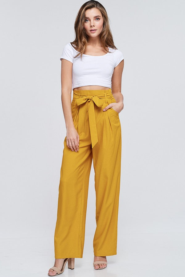 Crunch Time Pants in Mustard - Downtown Chic Online