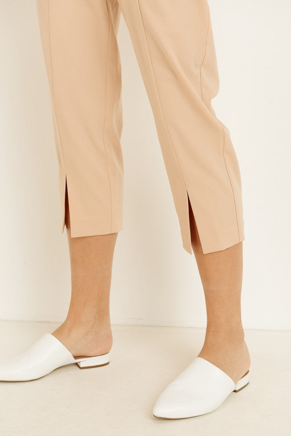 Influencer Capri Pants in Nude - Downtown Chic Online