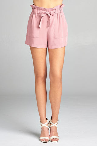 Corporate Picnic shorts in dusty pink - Downtown Chic Online
