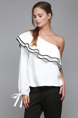 Miami Living top in white - Downtown Chic Online