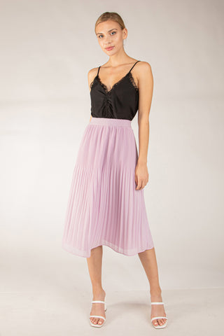Femme Fatale Skirt in Lavender - Downtown Chic Online