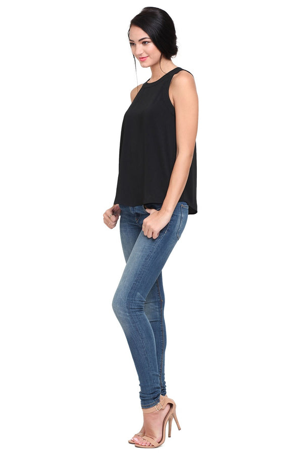 ROI Tank in Black - Downtown Chic Online