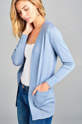 Sky Blue Cardigan - Downtown Chic Online