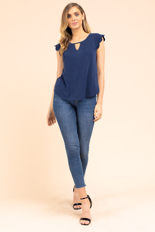 In the Zone V-Neck top in Navy