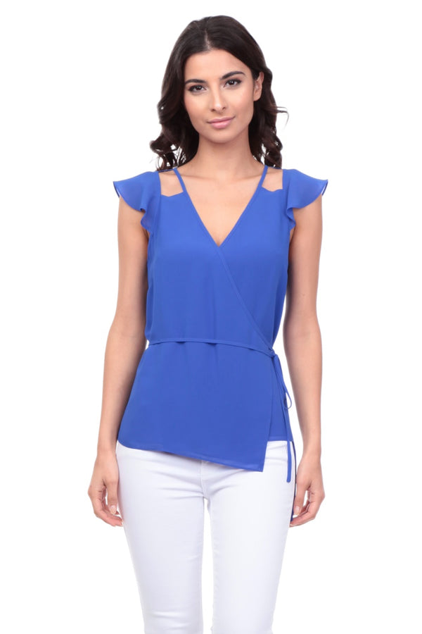Negotiating Tactics Tank in Blue - Downtown Chic Online