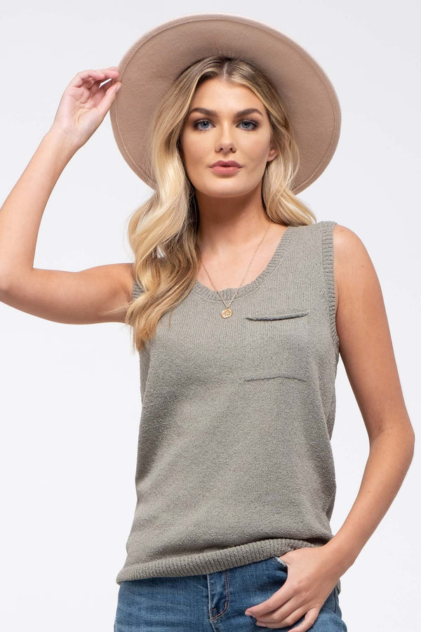 Elevated Ideas tank in olive