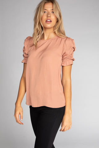 Don't Apologize blouse in Dusty Mauve - Downtown Chic Online