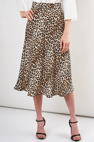 Wild Spirit Skirt in Leopard - Downtown Chic Online